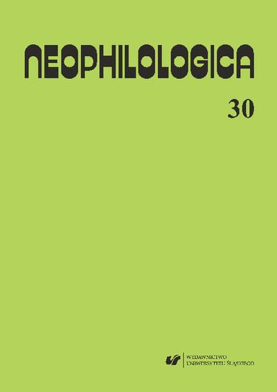 Neophilologica. Vol. 30