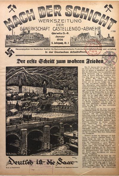 Nach der Schicht, 1935, Jg. 5, Nr. 1