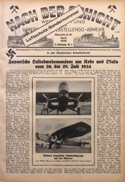 Nach der Schicht, 1935, Jg. 5, Nr. 4
