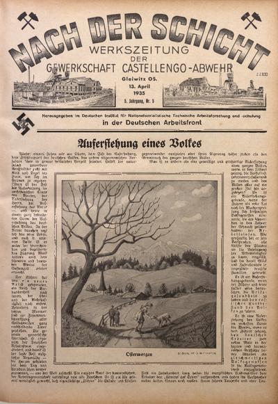 Nach der Schicht, 1935, Jg. 5, Nr. 5