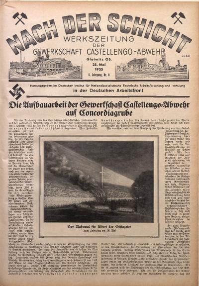 Nach der Schicht, 1935, Jg. 5, Nr. 8
