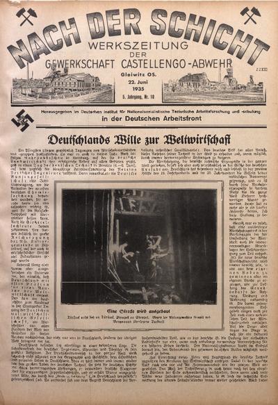Nach der Schicht, 1935, Jg. 5, Nr. 10