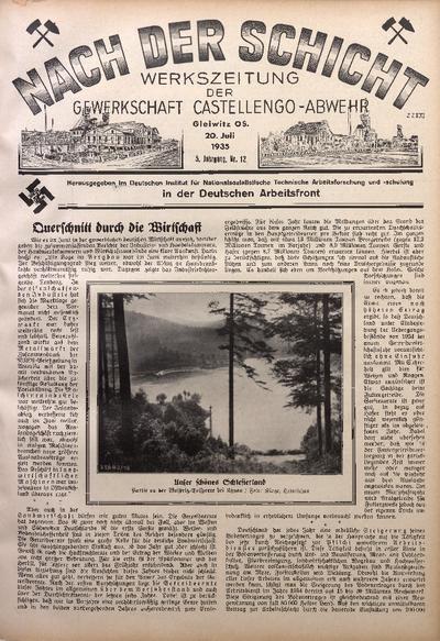 Nach der Schicht, 1935, Jg. 5, Nr. 12