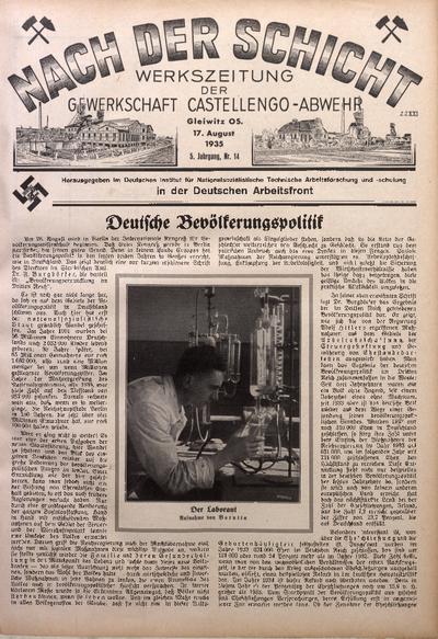 Nach der Schicht, 1935, Jg. 5, Nr. 14