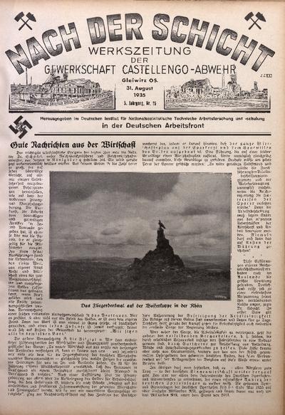 Nach der Schicht, 1935, Jg. 5, Nr. 15