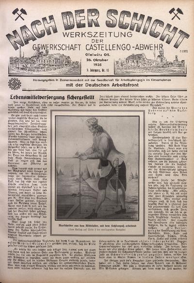 Nach der Schicht, 1935, Jg. 5, Nr. 19