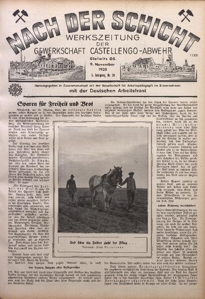 Nach der Schicht, 1935, Jg. 5, Nr. 20