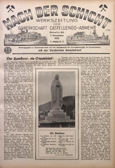 Nach der Schicht, 1935, Jg. 5, Nr. 22