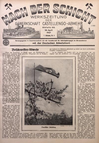 Nach der Schicht, 1937, Jg. 7, Nr. 9