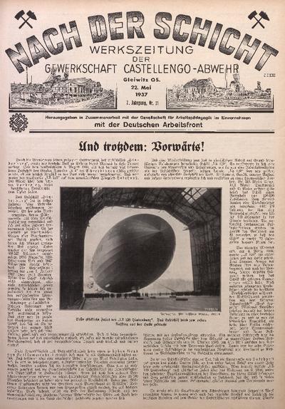 Nach der Schicht, 1937, Jg. 7, Nr. 11