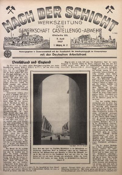 Nach der Schicht, 1937, Jg. 7, Nr. 12