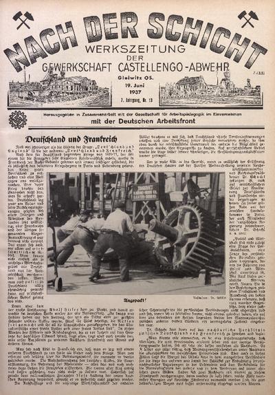 Nach der Schicht, 1937, Jg. 7, Nr. 13