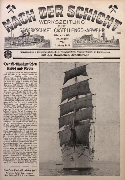 Nach der Schicht, 1937, Jg. 7, Nr. 18