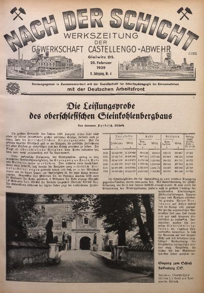 Nach der Schicht, 1939, Jg. 9, Nr. 4