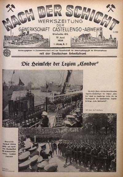 Nach der Schicht, 1939, Jg. 9, Nr. 12