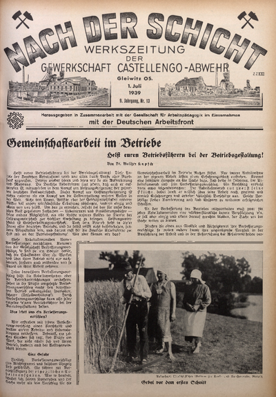 Nach der Schicht, 1939, Jg. 9, Nr. 13