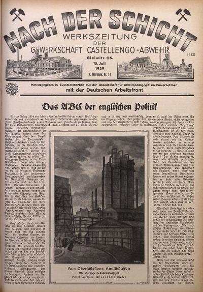 Nach der Schicht, 1939, Jg. 9, Nr. 14