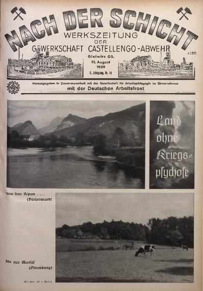 Nach der Schicht, 1939, Jg. 9, Nr. 16