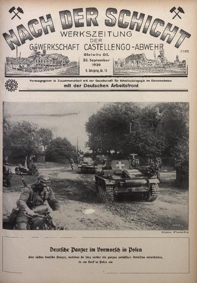 Nach der Schicht, 1939, Jg. 9, Nr. 19