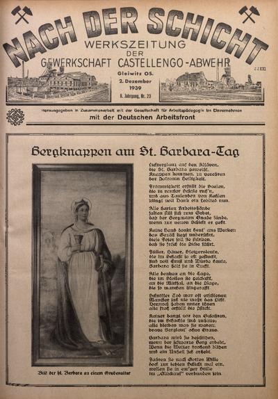Nach der Schicht, 1939, Jg. 9, Nr. 23