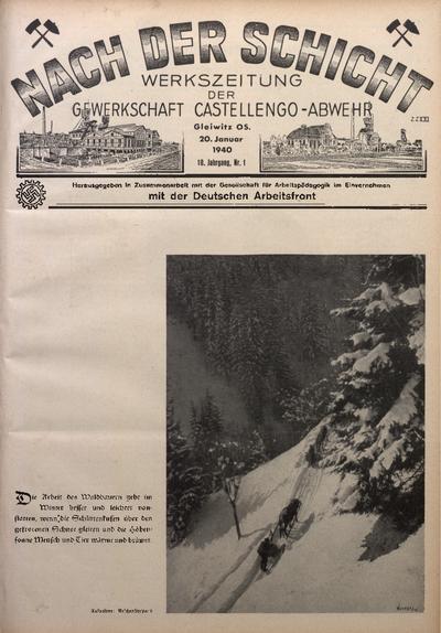 Nach der Schicht, 1940, Jg. 10, Nr. 1