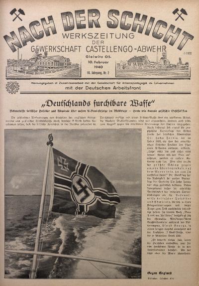 Nach der Schicht, 1940, Jg. 10, Nr. 2