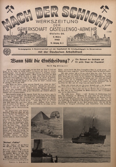 Nach der Schicht, 1940, Jg. 10, Nr. 3