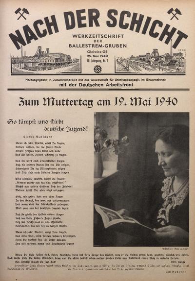 Nach der Schicht, 1940, Jg. 10, Nr. 7