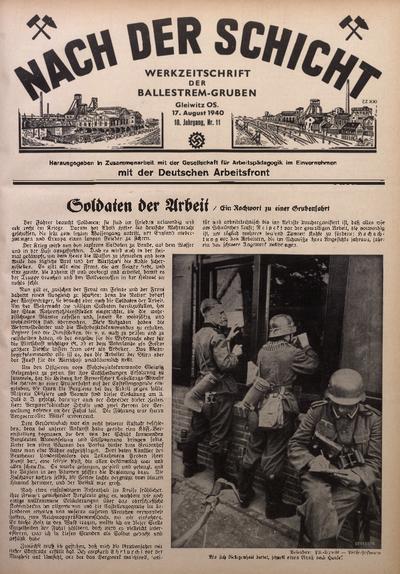 Nach der Schicht, 1940, Jg. 10, Nr. 11