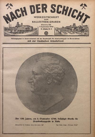 Nach der Schicht, 1940, Jg. 10, Nr. 12