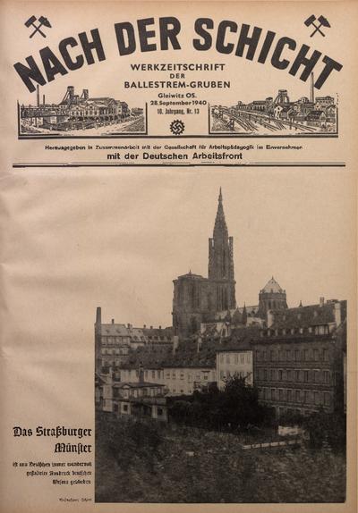 Nach der Schicht, 1940, Jg. 10, Nr. 13