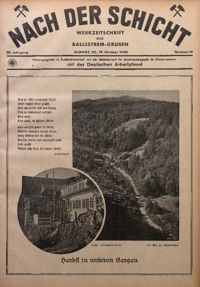 Nach der Schicht, 1940, Jg. 10, Nr. 14