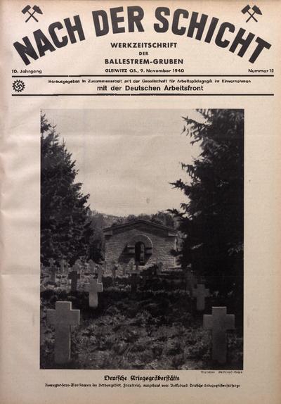 Nach der Schicht, 1940, Jg. 10, Nr. 15