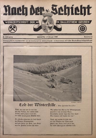 Nach der Schicht, 1941, Jg. 11, Nr. 2