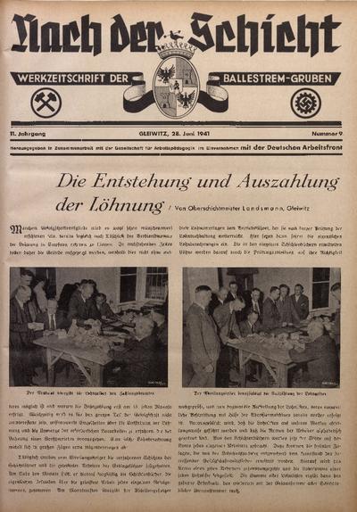 Nach der Schicht, 1941, Jg. 11, Nr. 9