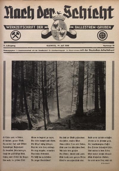 Nach der Schicht, 1941, Jg. 11, Nr. 10