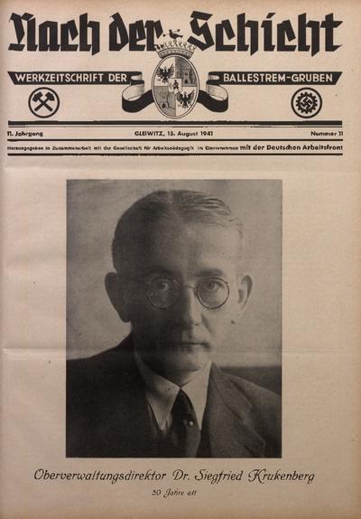 Nach der Schicht, 1941, Jg. 11, Nr. 11