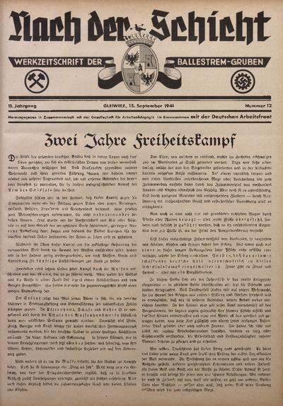 Nach der Schicht, 1941, Jg. 11, Nr. 12