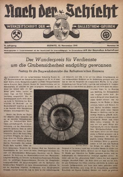 Nach der Schicht, 1941, Jg. 11, Nr. 14