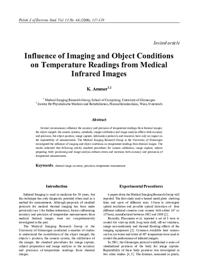 Influence of Imaging and Object Conditions on Temperature Readings from Medical Infrared Images