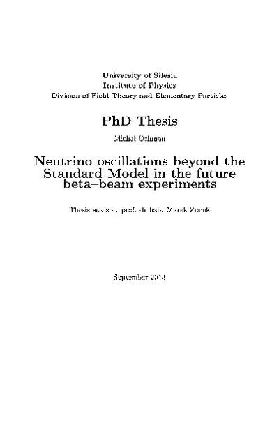 Neutrino oscillations beyond the Standard Model in the future beta-beam experiments