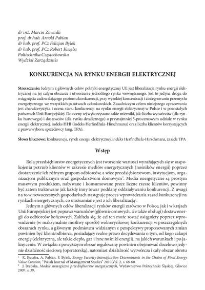 Konkurencja na rynku energii elektrycznej