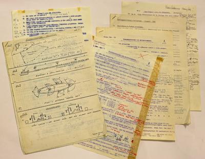 Kursmaterial, övningsskrivningar i navigation i samband med förarintyg 1966