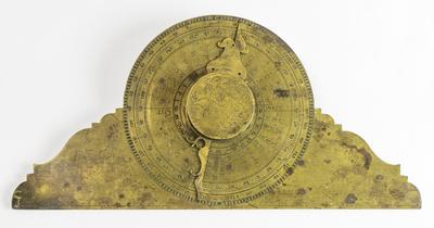 Transportör, gradskiva med kompass avsedd för navigering, från Strängnäs