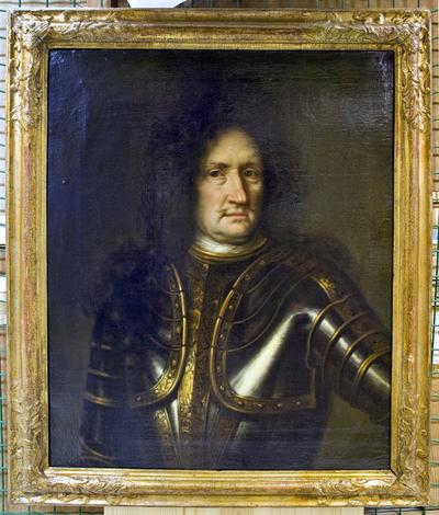 Oljemålning, riksrådet Erik Dahlberg, målad av David Klöcker Ehrenstrahl 1635.