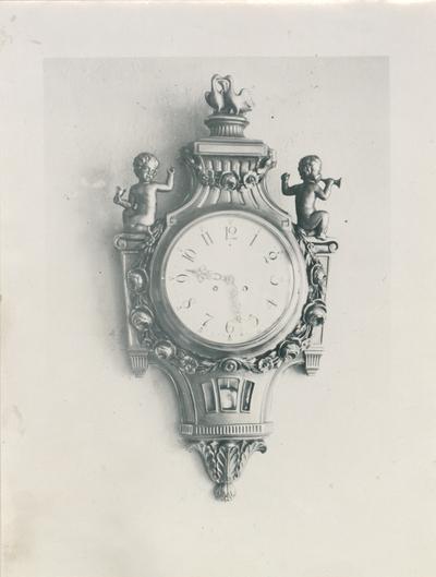 Klocka av bildhuggare Fritz Johansson år 1927