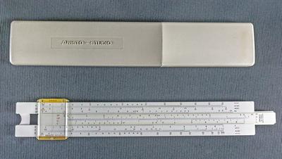 Räknesticka av vit plast, 1960-tal