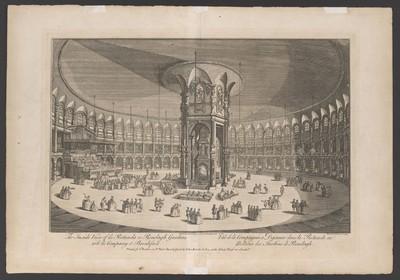 London, Die Rotunde in Renelagh Gardens, Innenansicht