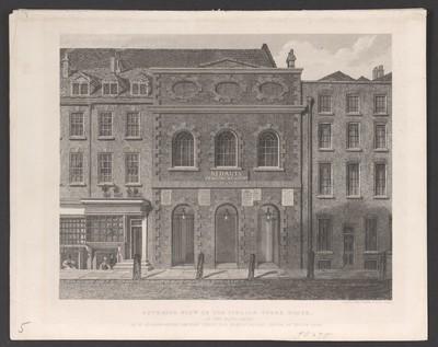 London, Eingang zum Haymarket Theatre