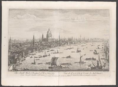 London, Südwestansicht des Stadtzentrums mit dem Themse-Ufer
